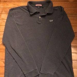 Vineyard Vines Men's Long Sleeve Polo, Size M